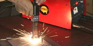 The stud welding gun is activated and the weld stud fastener is welded in a fraction of a second.