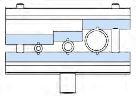 Drawing of I-Rod supporting metal tubing