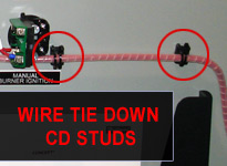 Wire Tie Down CD Weld Stud in Utility Cabinet